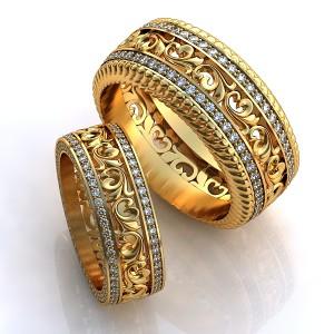 Золотое обручальное кольцо 415109