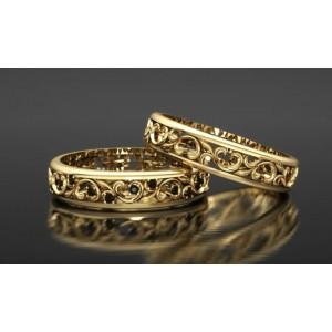 Золотое обручальное кольцо 415116