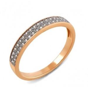 Золотое кольцо с бриллиантами 30230210