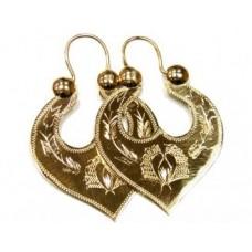Золотые серьги цыганские