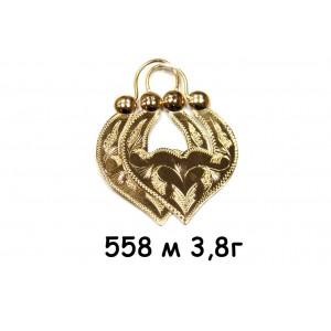 Золотые серьги цыганские м558м