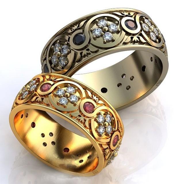 Золотое обручальное кольцо 415101