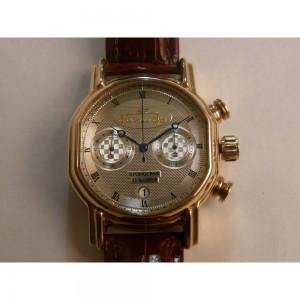 Золотые часы мужские Полет Хронограф фото