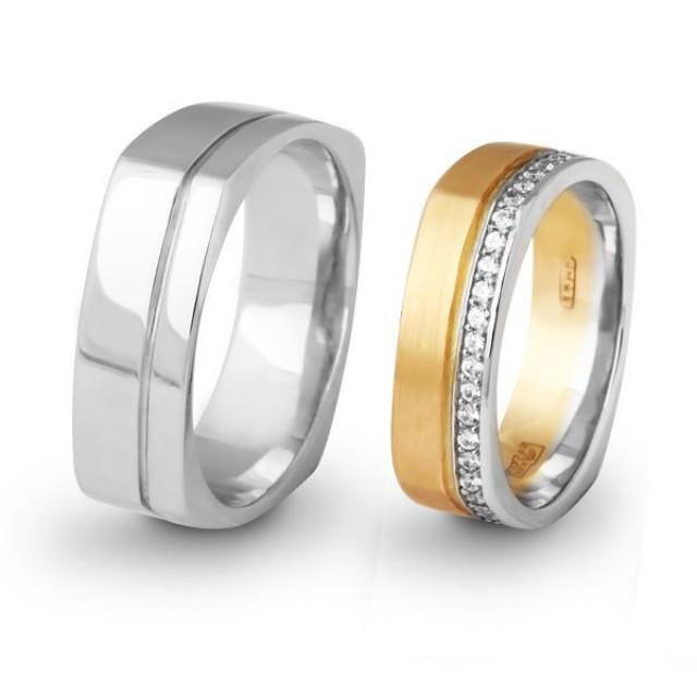 Золотое обручальное кольцо 415120 фото