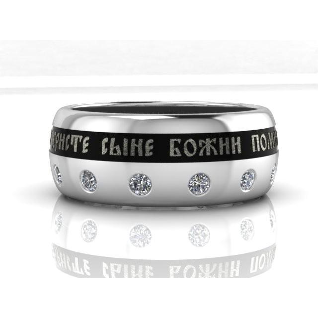 Золотое обручальное кольцо с эмалью 6vs18 фото