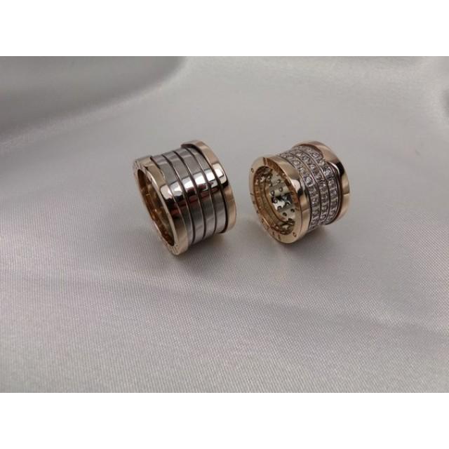 Золотое обручальное кольцо bulgari