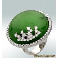 Золотое кольцо с цирконами 30078bbi