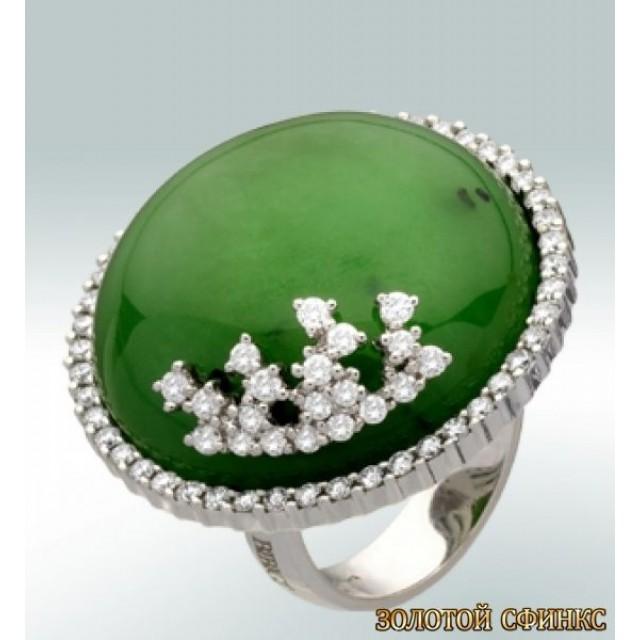 Золотое кольцо с цирконами 30078bbi фото