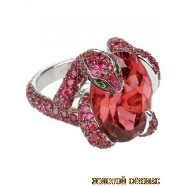 Золотое кольцо с цирконами 30090bn