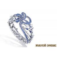 Золотое кольцо с цирконами 30110bt