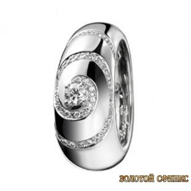 Золотое кольцо с цирконами 30128bt