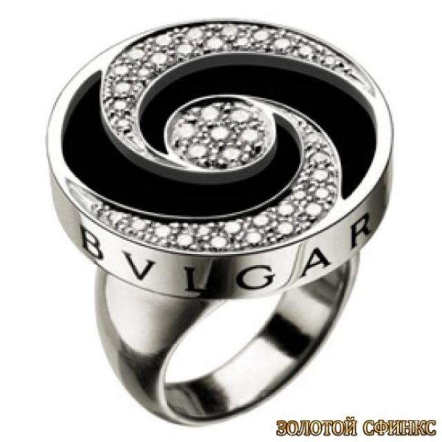 Золотое кольцо с цирконами 30143bi