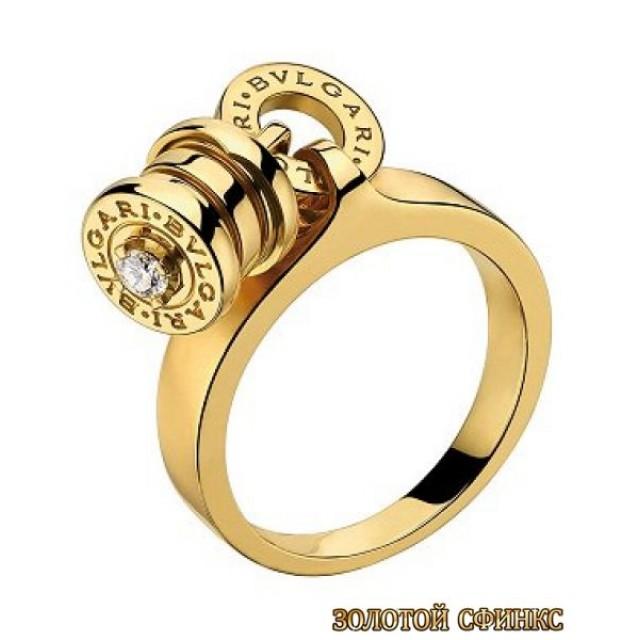 Золотое кольцо с цирконами 30149bi