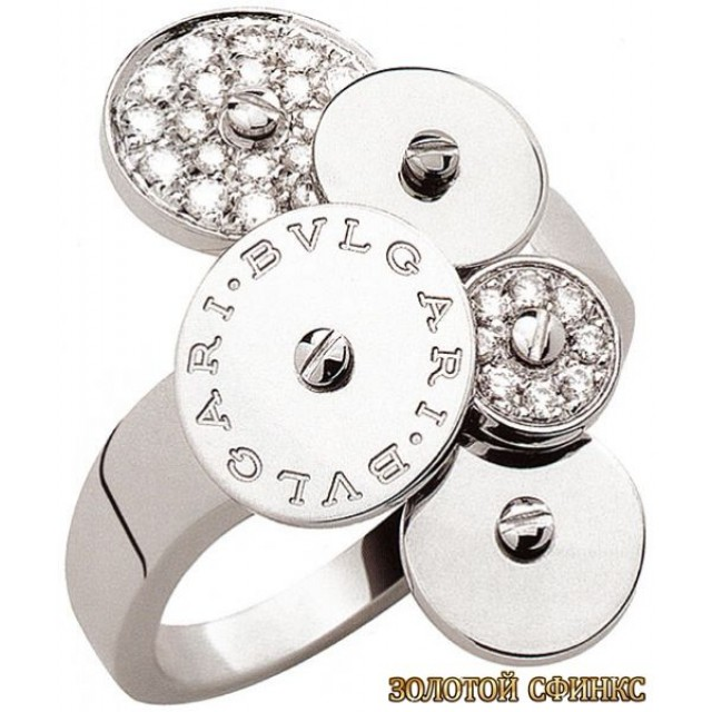 Золотое кольцо с цирконами 30160bi