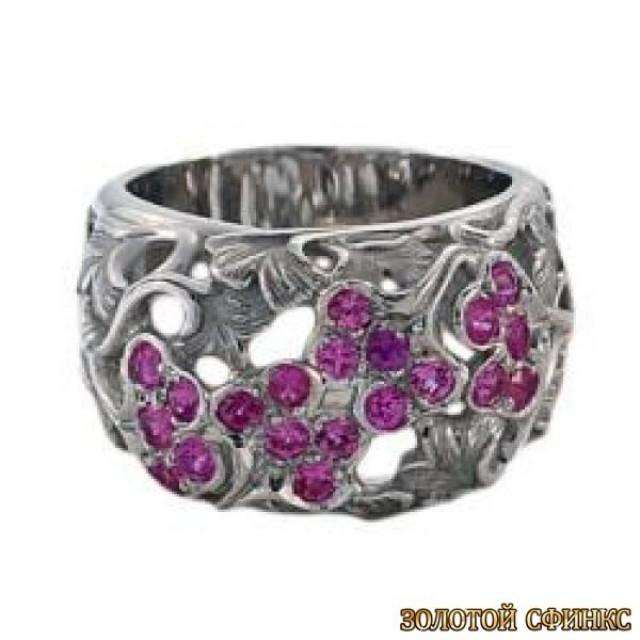 Золотое кольцо с цирконами 30173cc