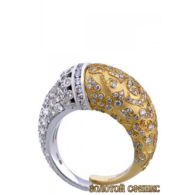 Золотое кольцо с цирконами 30195cc фото