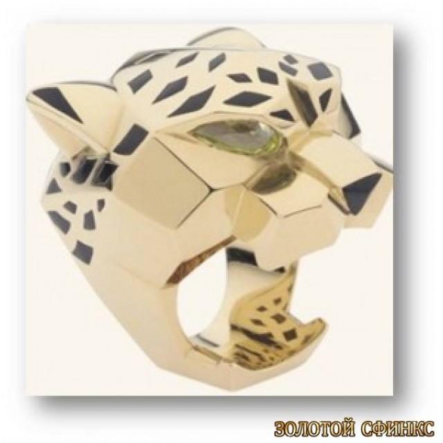 Золотое кольцо с цирконами 30208cr