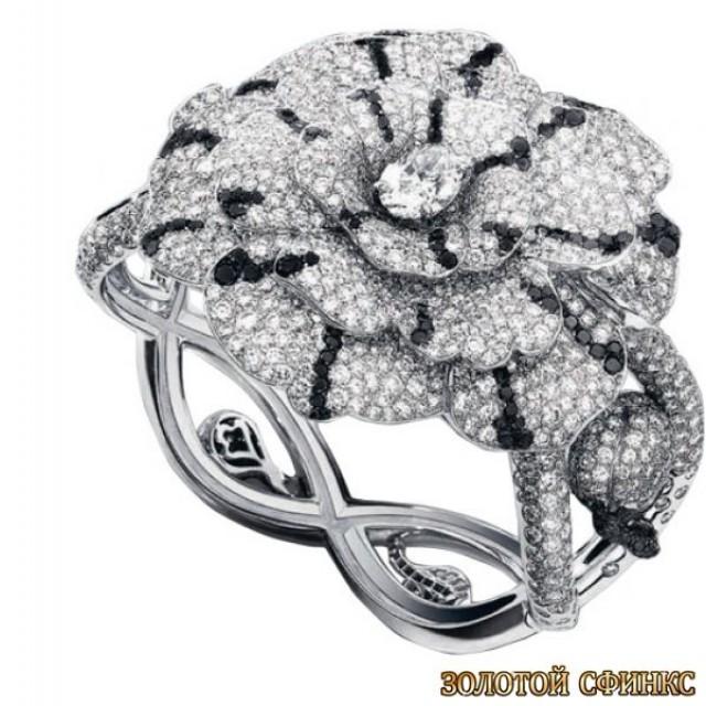 Золотое кольцо с цирконами 30336cl фото