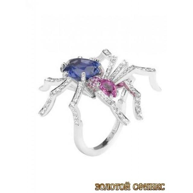 Золотое кольцо с цирконами 30339ct