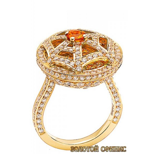 Золотое кольцо с цирконами 30343ct фото