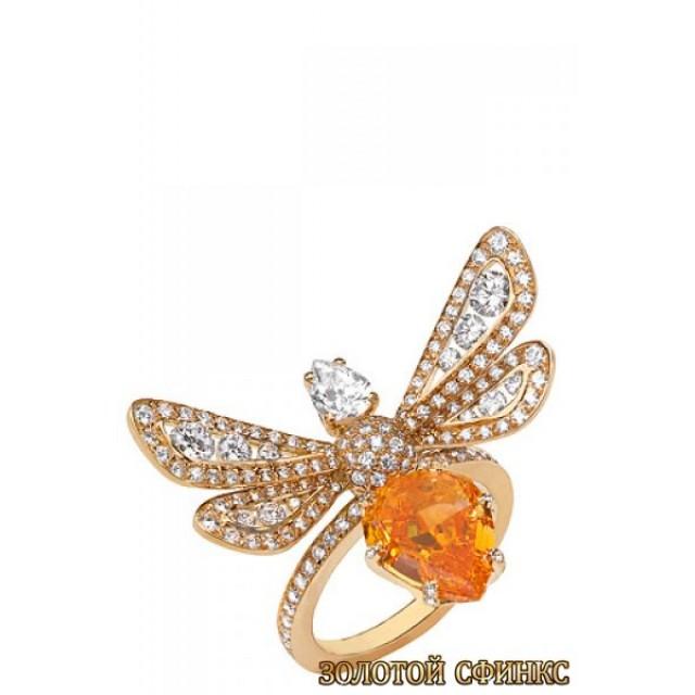 Золотое кольцо с цирконами 30348ct фото