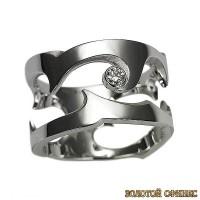 Золотое кольцо с цирконами 30384db