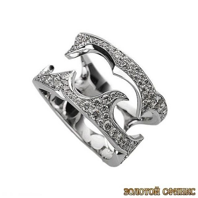 Золотое кольцо с цирконами 30394db