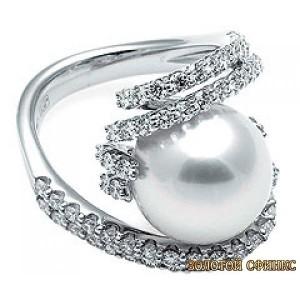 Золотое кольцо с жемчугом 30560mo фото