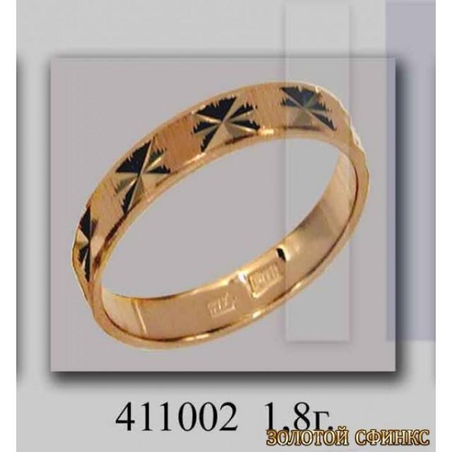 Золотое обручальное кольцо 411002