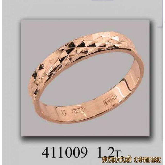 Золотое обручальное кольцо 411009