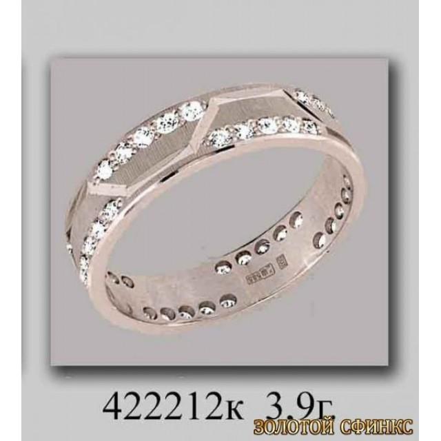 Золотое обручальное кольцо 422212к фото