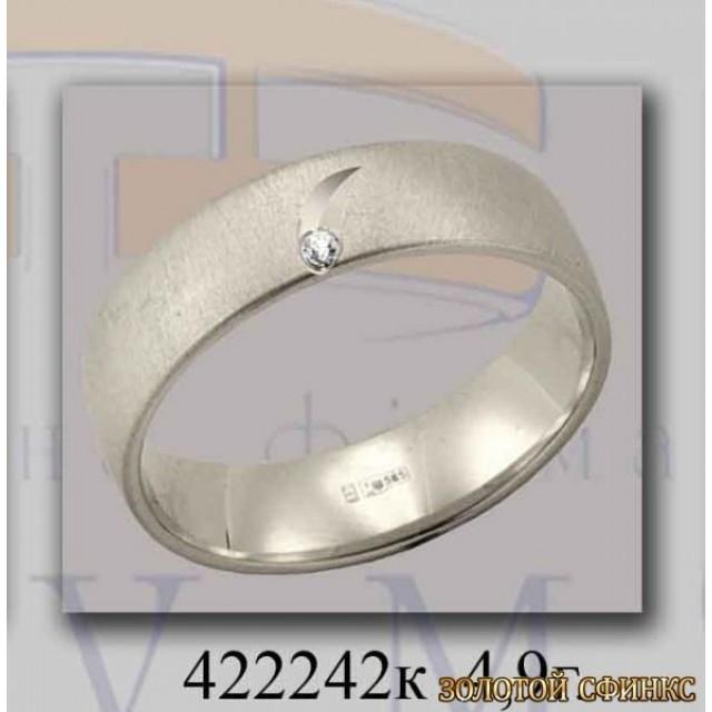 Золотое обручальное кольцо 422242к