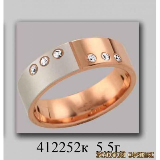 Золотое обручальное кольцо 412252k