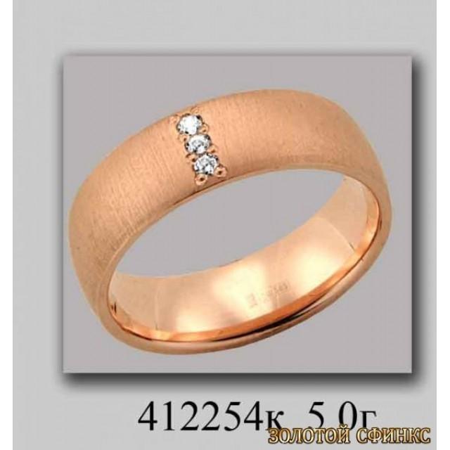 Золотое обручальное кольцо 412254к