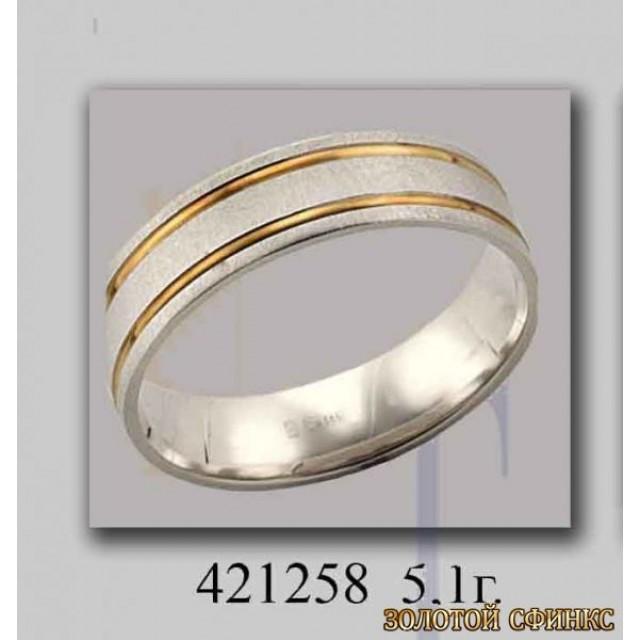 Золотое обручальное кольцо 421258