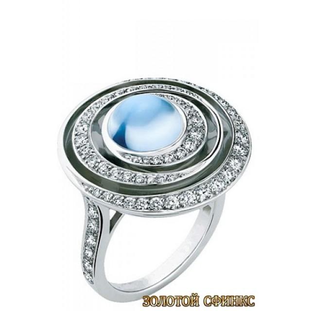 Золотое кольцо с цирконами 30100bn