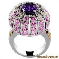 Золотое кольцо с цирконами 30103bn