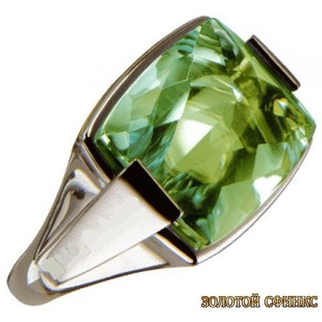 Золотое кольцо с цирконами 30156bi