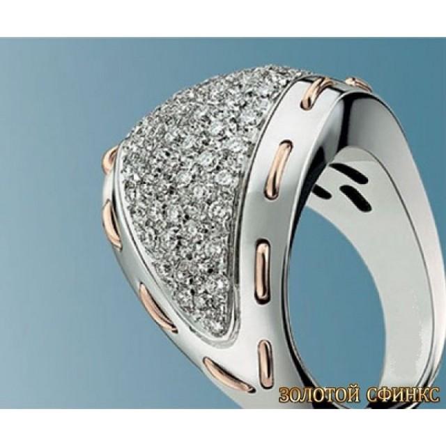 Золотое кольцо с цирконами 30375di