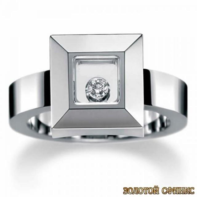 Золотое кольцо с бриллиантом 30018-1cd