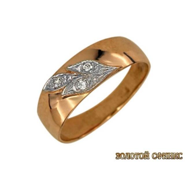 Золотое обручальное кольцо 1807 фото
