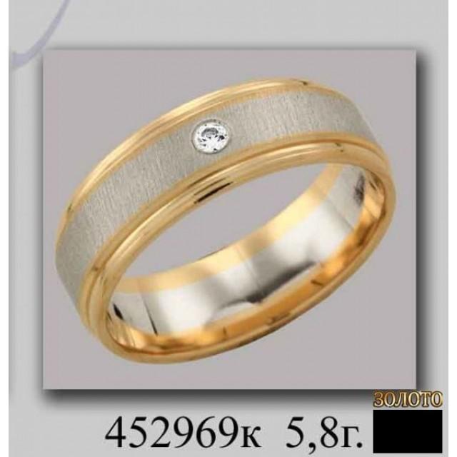 Золотое обручальное кольцо 452969к фото