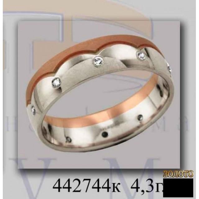 Обручальное кольцо 442744k