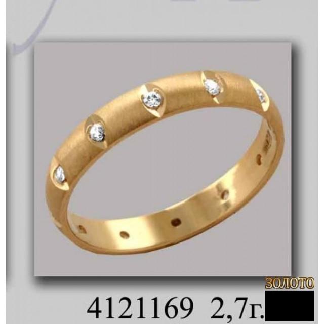 Золотое обручальное кольцо 4121169к фото