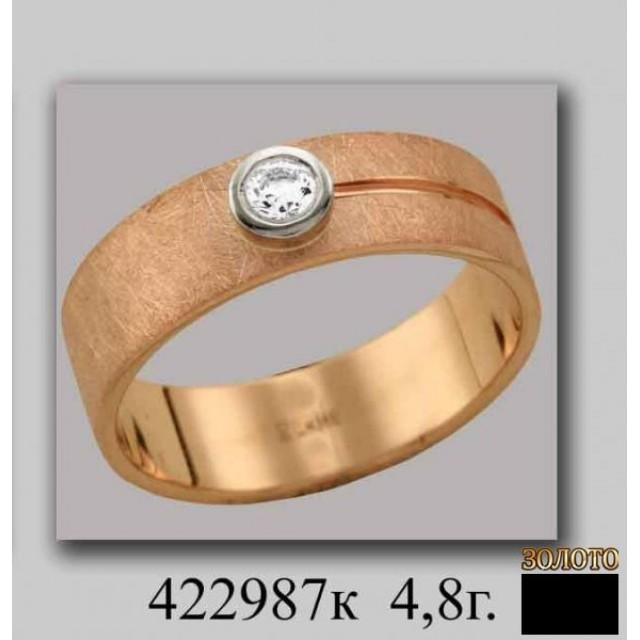 Золотое обручальное кольцо 422987k