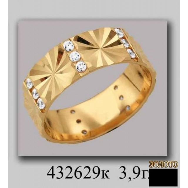 Золотое обручальное кольцо 432629к