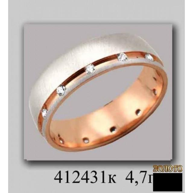 Обручальное кольцо 412431k фото