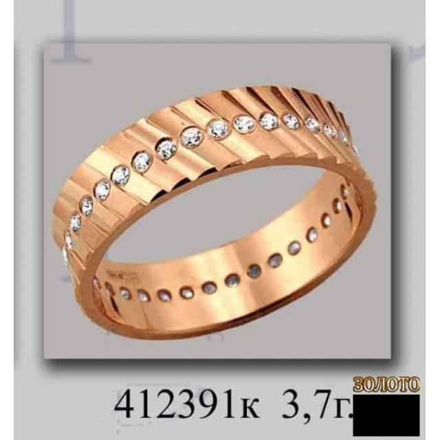 Золотое обручальное кольцо 412391к