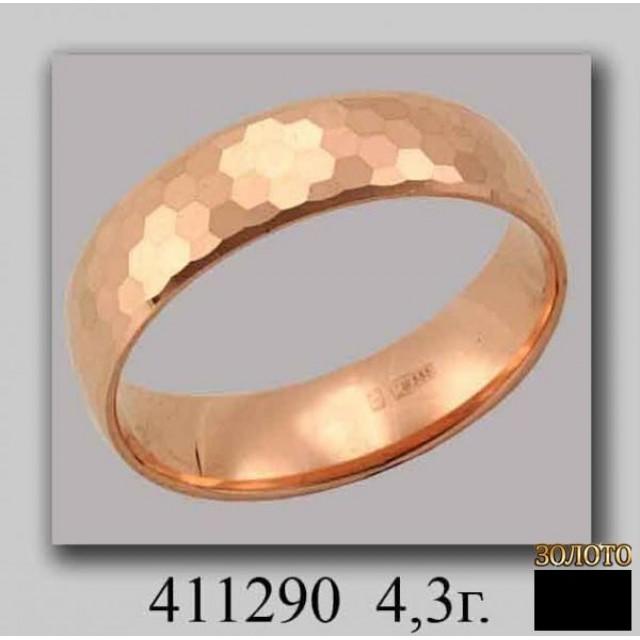 Золотое обручальное кольцо 411290