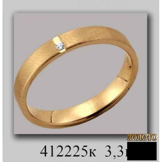 Обручальное кольцо 412225к фото